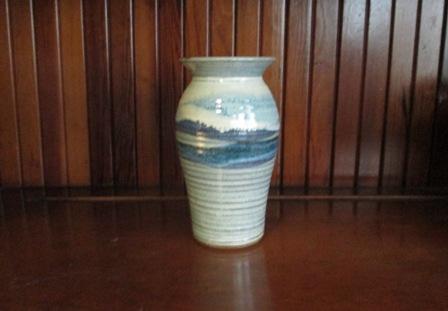 vase memorabilia on shelf