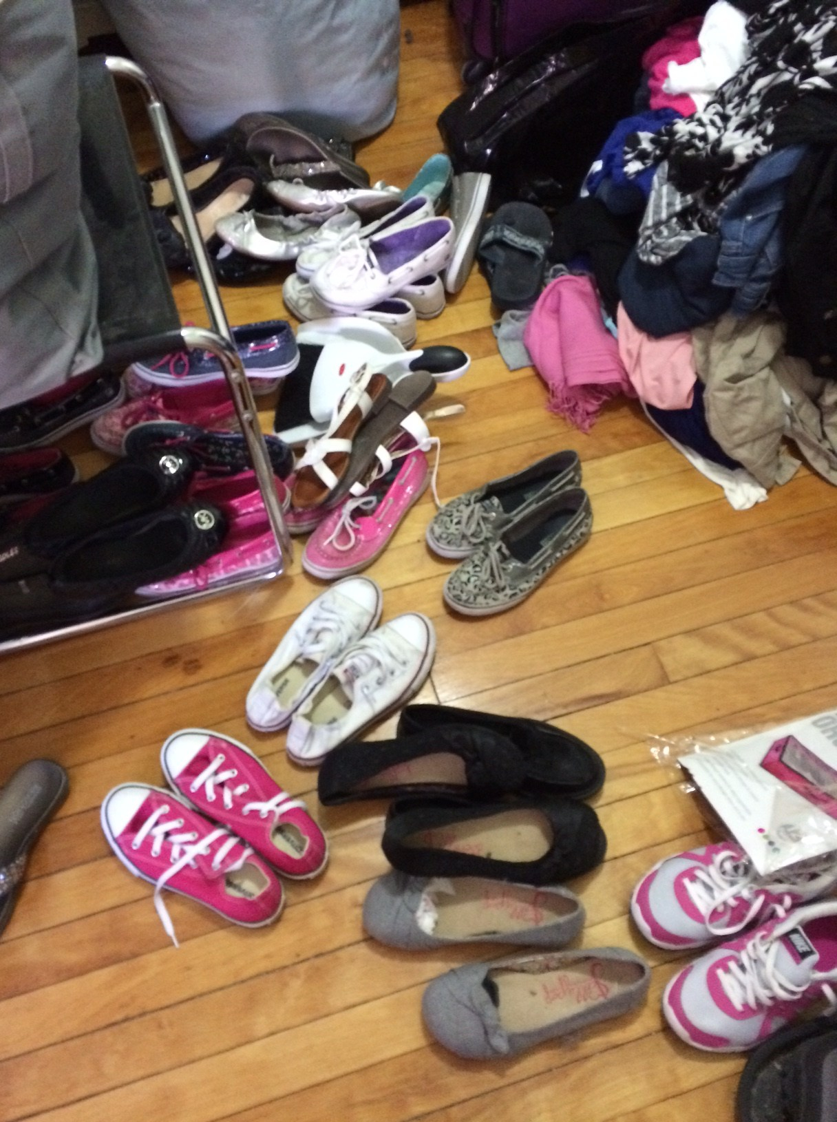 too many shoes