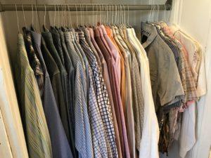 shirt closet organized