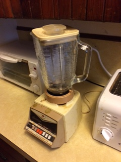 Vintage blender with glass pitcher